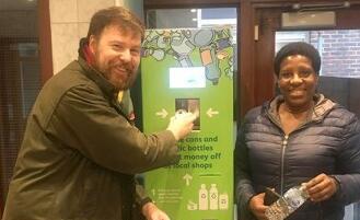 自动售货回收机器首次进驻英国居民社区