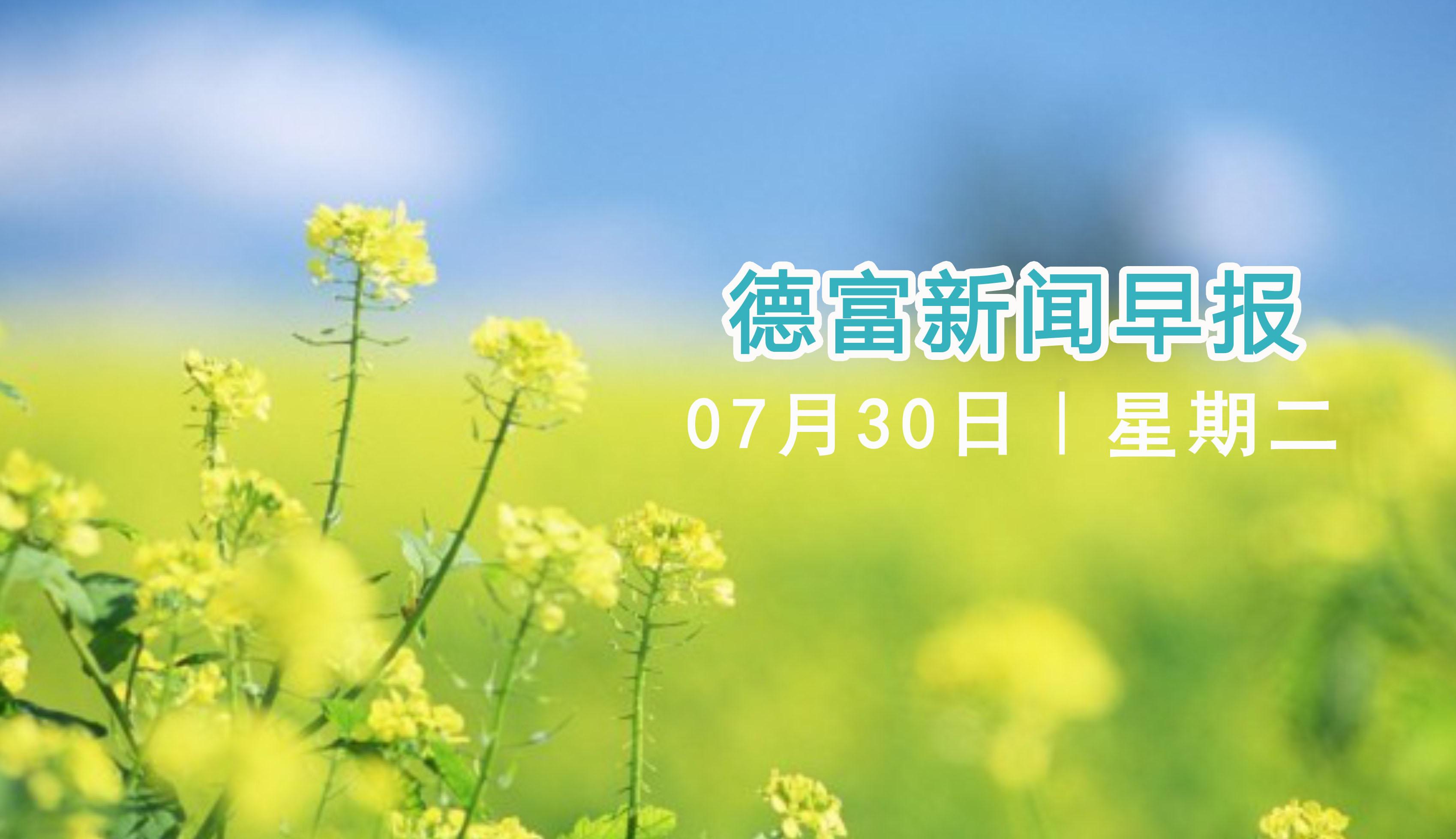 20190730德富新闻早报