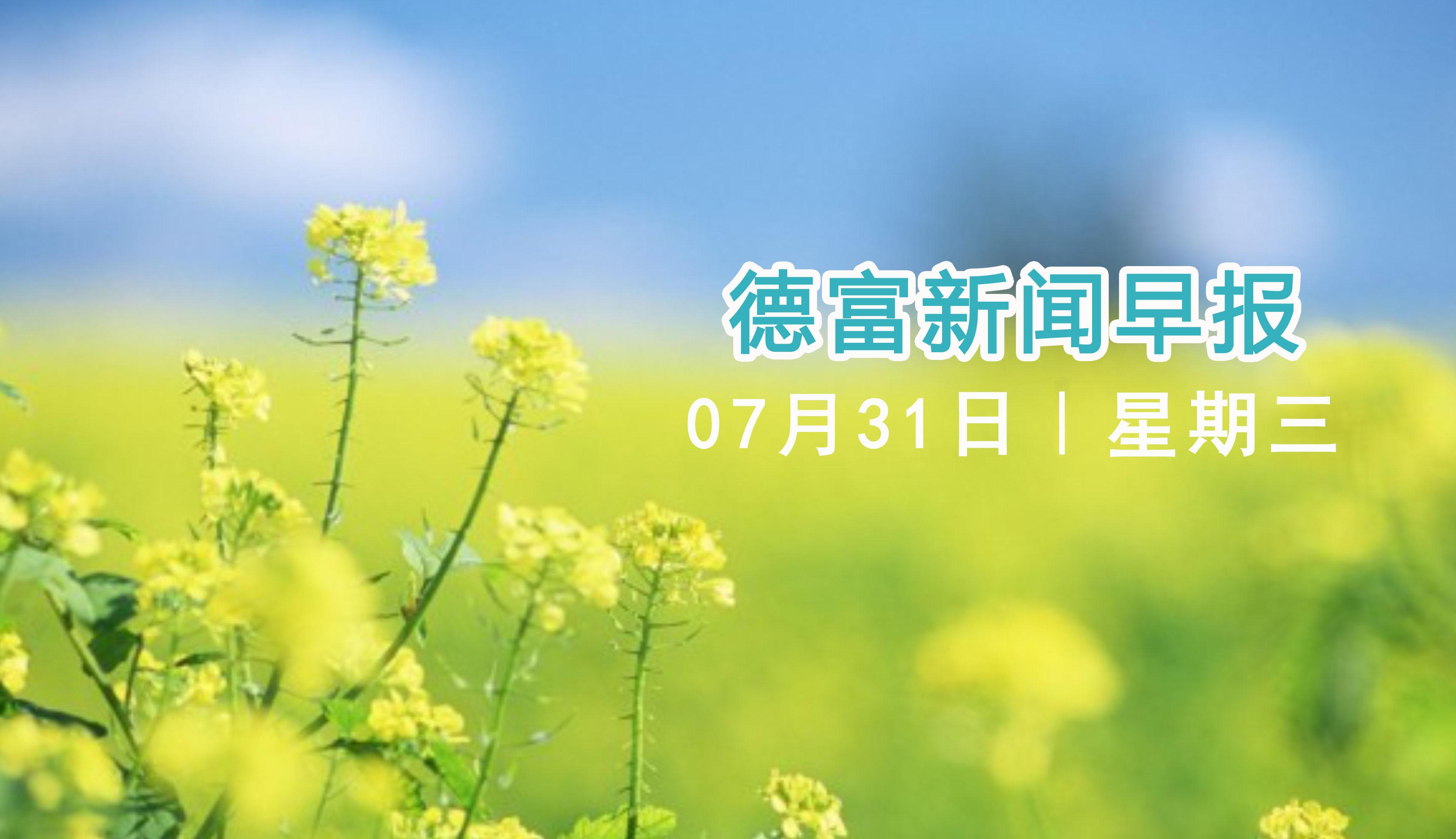 20190731德富新闻早报